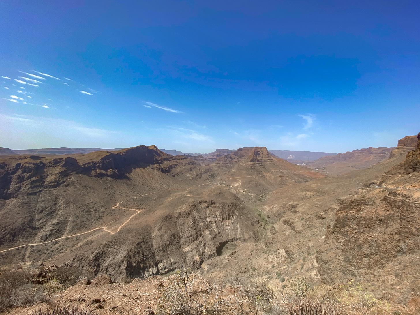 vulkanisch landschap van Gran Canaria